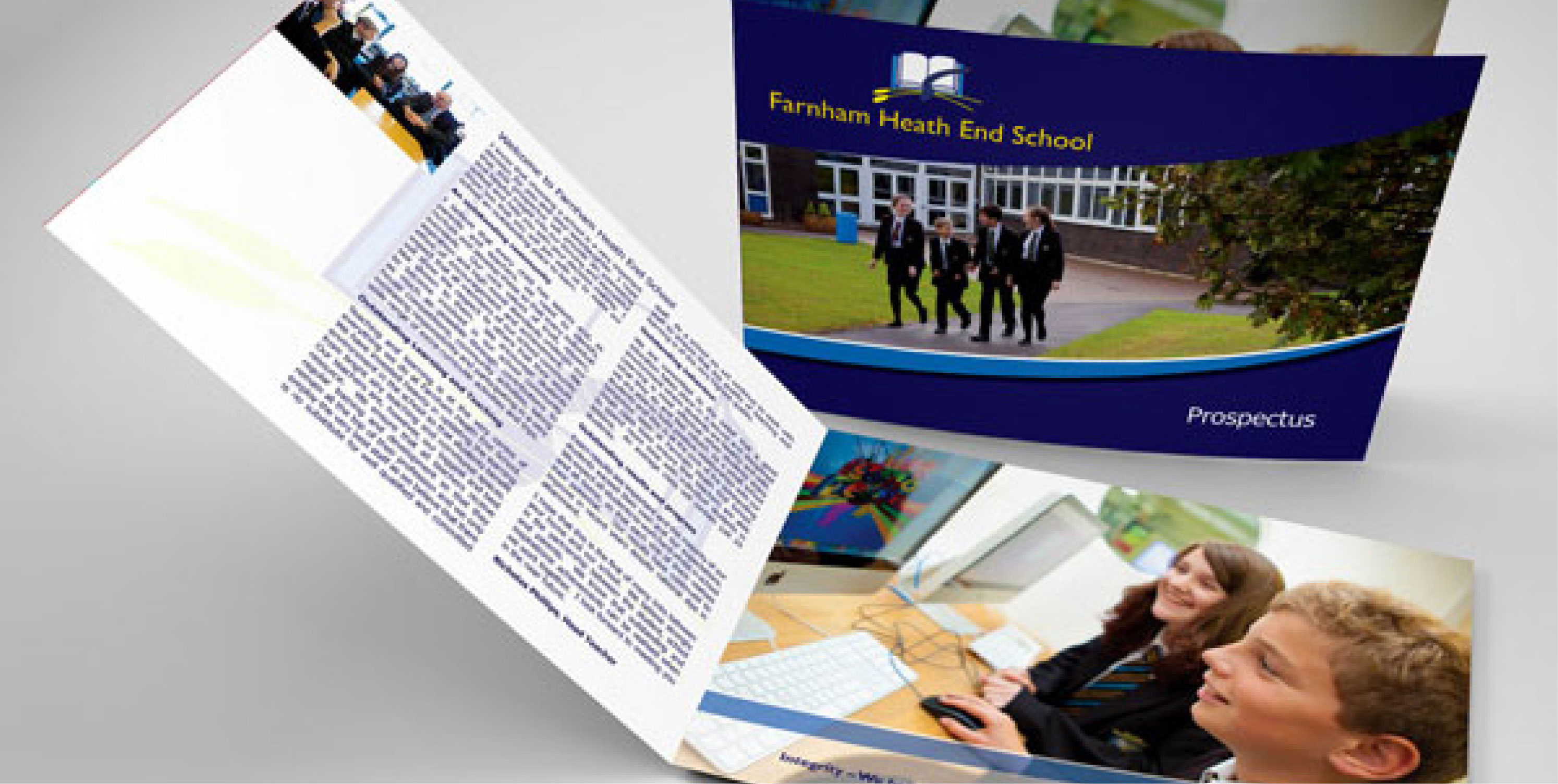 farnham heath end school prospectus design