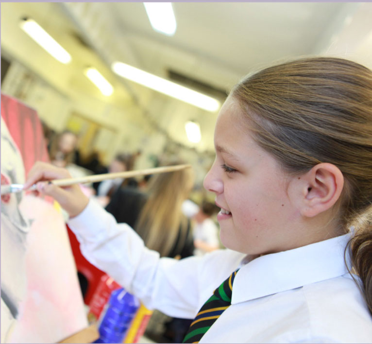 school photography students painting